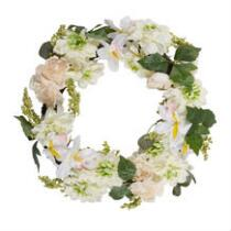 "21"" Peony and Chrysanthemum Wreath"
