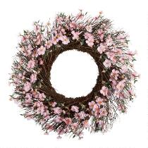 "The Grainhouse™ 24"" Dogwood Floral Wreath"