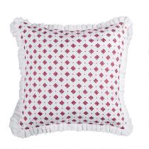 Anthology® Brynn Pink Medallions Ruffled Square Throw Pillow
