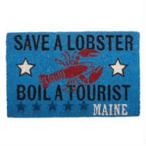 """""""Save a Lobster"""" Coir Door Mat"""