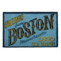 """Greetings from Boston"" Coir Door Mat"