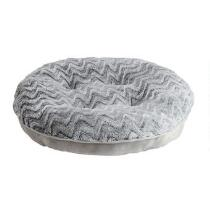 Gray Chevron Extra-Large Oval Pet Bed