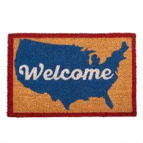 """""""Welcome"""" USA Map Coir Door Mat"""