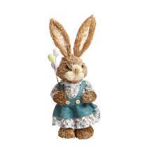 "14"" Bunny Girl with Balloons Decor"