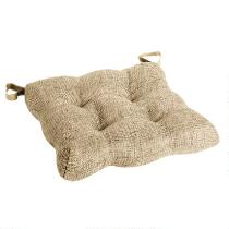 Solid Chenille Tufted Chair Pad