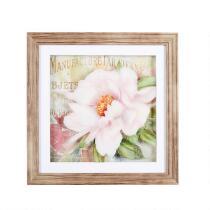 """16"""" Layered Pink Flower Framed Wall Art"""