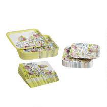 Springtime Flowers Disposable Dinnerware Set