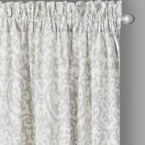 Traditions by Waverly® Silver Duncan Damask Window Curtains, Set of 2