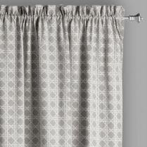 Traditions by Waverly® Gray Geo Checkered Window Curtains, Set of 2