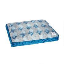 Blue Tile Print Pet Bed