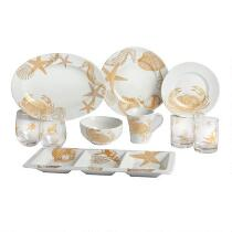 Coastal Living Seascapes™ Gold Dinnerware