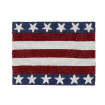 Beaded Stars and Stripes Rectangular Placemat