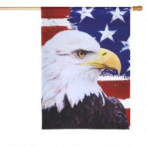 Stars and Stripes Eagle Yard Flag