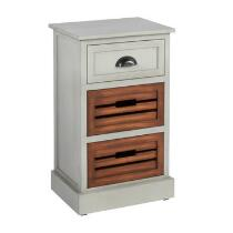 Alden Gray 1-Drawer/2-Bin Shutter Storage Cabinet