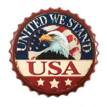 "13.75"" ""United We Stand"" Bottle Cap Wall Hanger"