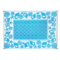 Shell Border Reversible All-Weather Patio Mat