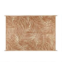 Brown Palm Reversible All-Weather Patio Mat