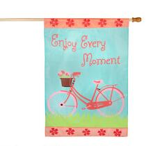 """Enjoy Every Moment"" Bicycle Yard Flag"