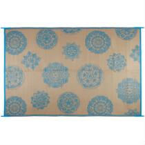 6'x9' Medallion Reversible All-Weather Patio Mat