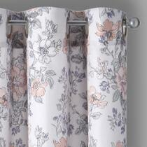 Pink Crawford Amelle Grommet Window Curtains, Set of 2