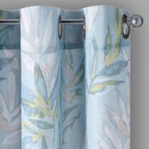 Aqua Crawford Mandalay Grommet Window Curtains, Set of 2