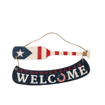 "24"" ""Welcome"" Oar Wall Decor"