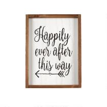"""12""""x16"""" """"Happily Ever After"""" Wood Wall Decor"""