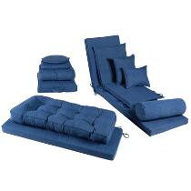 Coastal Living Seascapes™ Solid Blue All-Weather Cushions