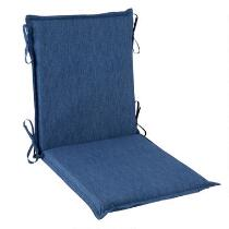Coastal Living® Seascapes Solid Blue Indoor/Outdoor Hinged Chair Pad