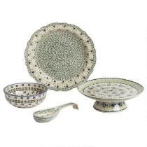 Polish Pottery Basketweave Dinnerware