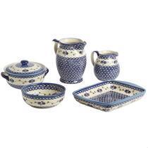 Polish Pottery Floral Chain Serveware