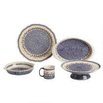 Polish Pottery Cheery Flowers Ceramic Dinnerware