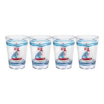 Nautical Lighthouse Double Old-Fashioned Glasses, Set of 4