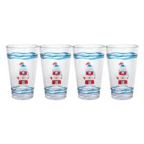 Nautical Lighthouse Cooler Glasses, Set of 4