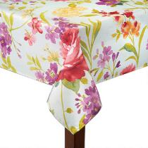 Mila Floral Print Tablecloth