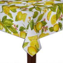 Lemon Printed Microfiber Tablecloth