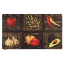 "18""x30"" Olive/Pepper/Garlic Cushioned Floor Mat"
