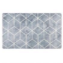 "18""x30"" Gray Diamonds Cushioned Floor Mat"