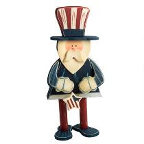 """24"""" Wooden Uncle Sam Standing Decor"""