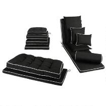 Traditions by Waverly® Solid Black Indoor/Outdoor Cushions
