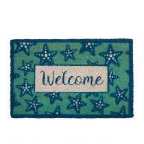 """""""Welcome"""" Starfish Coir Door Mat"""