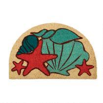 Seashells Slice Coir Door Mat