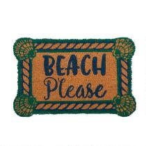 """Beach Please"" Coir Door Mat"