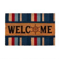 """""""Welcome"""" Stripe Coir Door Mat"""