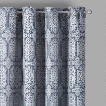 Medallion Grommet Indoor/Outdoor Window Curtains, Set of 2