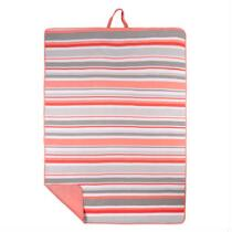 Oversized Striped Beach Blanket and Tote