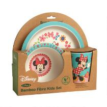 Disney® Minnie Mouse Bamboo Children's Dinnerware Set, 3-Piece