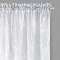 Perfect Window Grey Branch Window Curtains, Set of 2