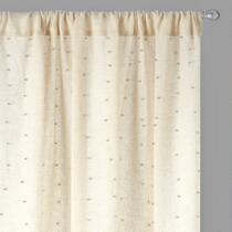 Studded Tan Window Curtains, Set of 2