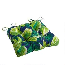 Palm Leaves Indoor/Outdoor Square Seat Pad